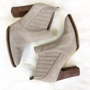 Anthropologie FarylRobin Taupe Pointed Bootie ⛰ 6
